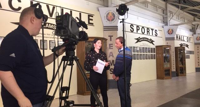 Hubert Earle being interviewed by Kenzie Lalonde - Eastlink.